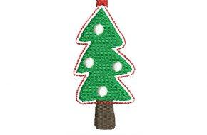 Bonito Bordado de Árbol de Navidad para Bordar
