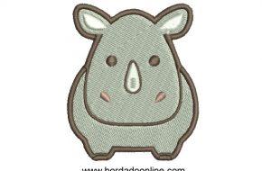 Diseño Bordado de hipopótamo