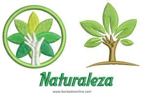 Diseños de Naturaleza para Bordar Gratis