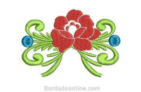 Diseños bordado de rosas para Máquina