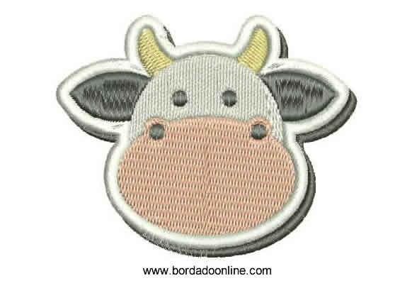 Lindo Diseño Bordado de Vaca para Maquina