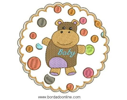 bordado de oso para bebes